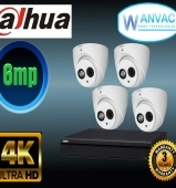 CCTV Dahua OEM 6MP 4 Camera Kit Installed