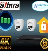 CCTV Dahua OEM 6MP 2 Camera Kit Installed