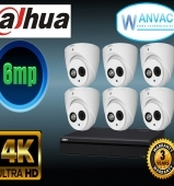 CCTV Dahua OEM 6MP 6 Camera Kit Installed