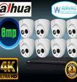 CCTV Dahua OEM 6MP 8 Camera Kit Installed